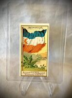1890 Allen & Ginter Tobacco Card - Flags of All Nations Second Series MADAGASCAR