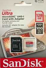 SanDisk 128GB Mb/s100 Ultra Micro SDXC UHS-I Card With Adapter New & Sealed