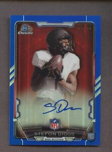 2015 Bowman Chrome Blue Refractor Stefon Diggs RC Rookie AUTO 73/99