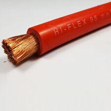 95 mm² BATTERIA FLESSIBILE IN PVC ROSSO CAVO DI SALDATURA amplificatori 500 A 1 M 1 M lunghezza AUTO