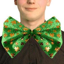 St Patricks Day - Party Dress Up - Green Shamrock Bow Tie