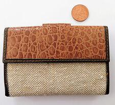 Onorevoli purse wallet ID Card Holder Pelle di Serpente effetto E JUTA CLOTH Finish