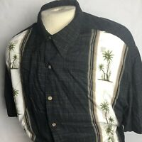 "Hollis River Mens Black Short Sleeve Hawaiian Shirt Size 2XL ""C"""
