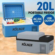 Kolner 20L Portable Fridge Freezer Cooler Camping Refrigerator 12V/240V
