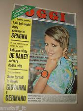 OGGI=1967/34=MINA=VITTORIO VALLETTA=REITA FARIA=GIUSEPPE CASTELLANO=MODA=