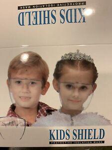 Anti-fog fashion one-piece oversized lens glasses transparent mask for Kids USA