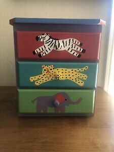 11 7/8 Inch X 11 In. X 6 3/4 In Anumal Theme Painted Chest