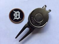 MLB Detroit Tigers Golf Ball Marker and Magnetic Divot Tool
