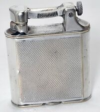 Antique Dunhill Silver-Plated Lighter , England #AR4477