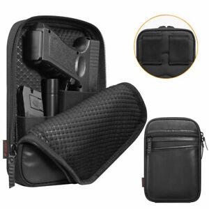 Concealed Carry Gun Pouch Pistol Holster Fanny Pack Waist Pocket Belt Loop Black