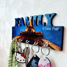 10pcs diy Sublimation Wooden Key Holder White blank MDF photo panel Hat Hanger