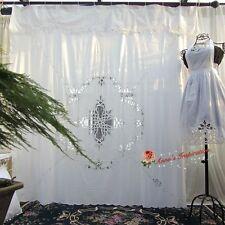 "Beautiful Battenburg Lace Shower Curtain B~White~Cotton~72""*72""~Elegant Life~"