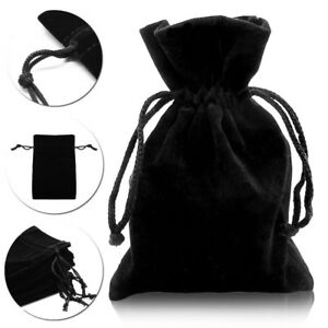 Jewelery Bag Black Case Velvet Pouch Gift Packaging 10 25 50 100 Organza Wedding