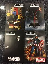MEZCO TOYZ ONE:12 COLLECTIVE PROMOTIONAL CARDS 4 PIECE SET FRANKENSTEIN BATMAN