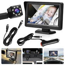 4.3' Hd Car Seat Rear Baby Monitor Child Mirror Safety Camera W/Ir Night Vision