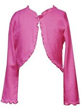 New Girls Rare Editions sz 4 Pink Sweater Cardigan Shrug Bolero Dress Clothes