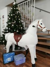 "Animal Riding Pferd ""Snowy"" XL Mechanisches Pferd NEUes Fell!!!!!"