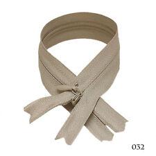 "12 pcs Quality BKC Invisible Zipper Top Open Bottom Closed 9"" Khaki #032"