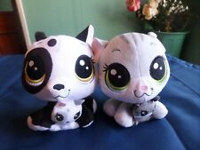 LITTLEST PET SHOP CAT AND DOG WITH BABIES PLUSH DOLLS