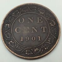 1901 Canada Copper One Large Cent Penny Circulated Canadian Coin C236