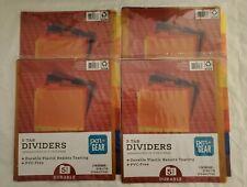 Folder Dividers 5 Tab Durable Plastic Resists Pengear 85in X 11in 20tabs 4pk