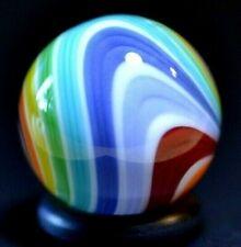 "JAY SLACK GLASS MARBLE/.762""-WIDE RIBBON RAINBOW CHEVRON-YELLOW,GOLDENROD,RED+"