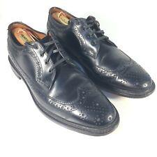 Allen Edmonds Regent Street Brogue Wing Tip Black Shoes Men's 10 D MSRP $335