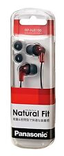 Panasonic Japan Inner Ear Phone Earphone HeadPhone RP-HJE150-R Red