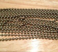 "5PCS Antique Bronze Ball Chain Necklaces 24"" for pendants, dog tags *US SELLER*"
