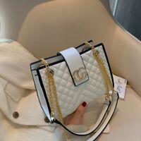 Women PU Leather Chain Strap Handbag Shoulder Bag Messenger Satchel Purse New