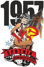 Sputnik 1 Hand Made CCCP Russia 1957 Russian Cosmonaut Satellite Ladies T Shirt