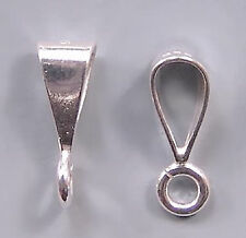 Simple Shiny Bail Sterling Silver Open Loop #631 (10)