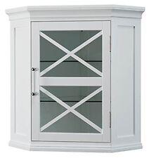 Elegant Home Fashions - ELG-630 - Blue Ridge Corner Wall Cabinet White New