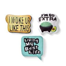 Fringe Studio Minis Emoji Text 3-Piece Plush Dog Toy Set