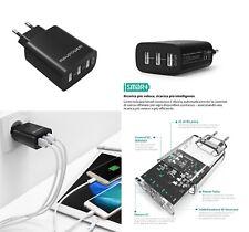 Caricatore USB da Muro a 3 Porte RAVPower Universale per iPhone iPad Galaxy