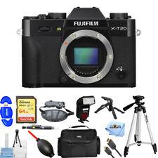 Fujifilm X-T20 Mirrorless Digital Camera (Body Only, Black) PRO BUNDLE NEW