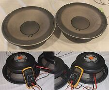 """New listing Lot Of 2 ~ Jbl 2206H 12"""" Low Frequency Speaker Woofer Lf Drivers ~ 8 Ohm"""