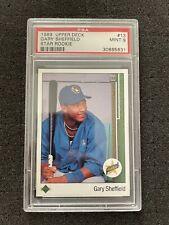 1989 Upper Deck Gary Sheffield Rookie #13 PSA 9