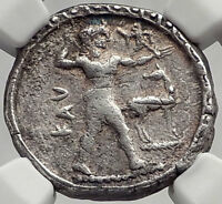KAULONIA BRUTTIUM 475BC Authentic Ancient Silver Greek Coin NGC Certified i61964