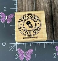 Stampin Up Rubber Stamp Welcome Little One 2006 Diaper Pin Shower #A158