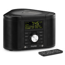 PURE Chronos CD Series 2 II DAB FM MP3 Radio Numérique Horloge Alarme Noir