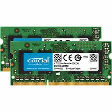 32GB Crucial DDR3 SO DIMM 1600MHz PC3-12800 CL11 1.35V Dual Memory Module 2x16GB