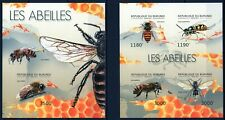 BURUNDI 2012 LES ABEILLES BEES INSECTS HONEY FAUNA NATURE STAMPS IMPERF MNH