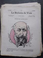 CARICATURE  par André GILL  / LE BULLETIN DE VOTE / HENRI DE LACRETELLE