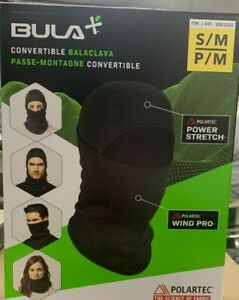 New Open Box- Bula Primaloft Convertible Balaclava Face Mask -Black- Size S/M