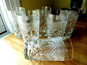 JG Durand Cris d'Arques Antique Ice Tea Highball Glasses SIX Clear Excellent