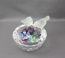 Swarovski Crystal Bird Bath A 7460 Nr 108 000 Gems Frosted No Box
