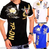 ZAHIDA Mens Polo Shirt Slim Fit Short Sleeve T-Shirt Black,White,Blue New