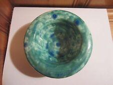 "Handmade Glazed Pottery Green 5 1/2"" Pillar Votive Candle Holder Trinket Dish"