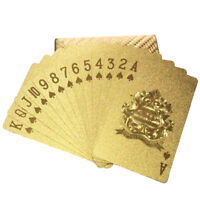 Gold Square Plated Poker Playing Cards Deck Foil Waterproof Table Game Card J EO